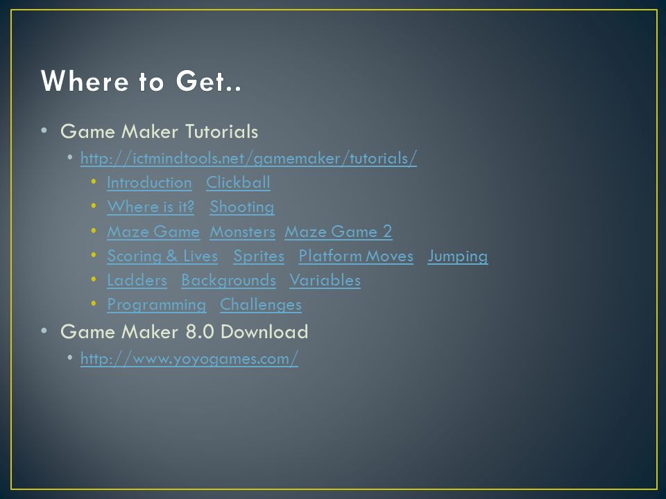 Game Maker Tutorials Introduction Clickball