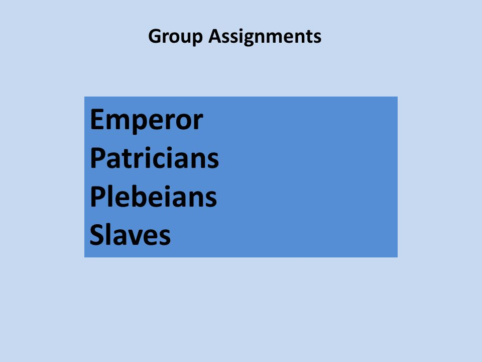 what complaints did the plebeians have against the patricians