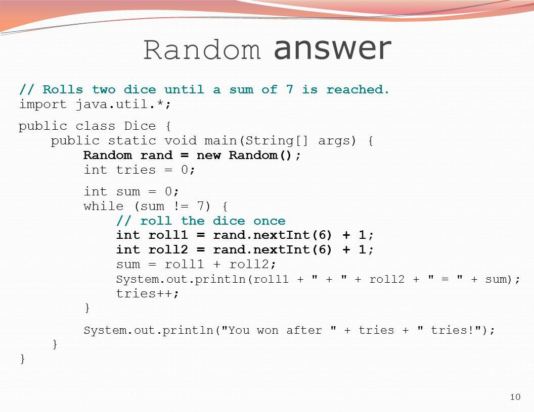 1 Building Java Programs Chapter 5 Lecture 11: Random