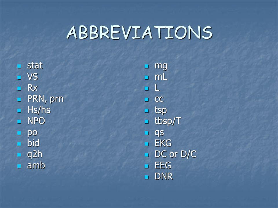 Madison : Po b d medical abbreviation
