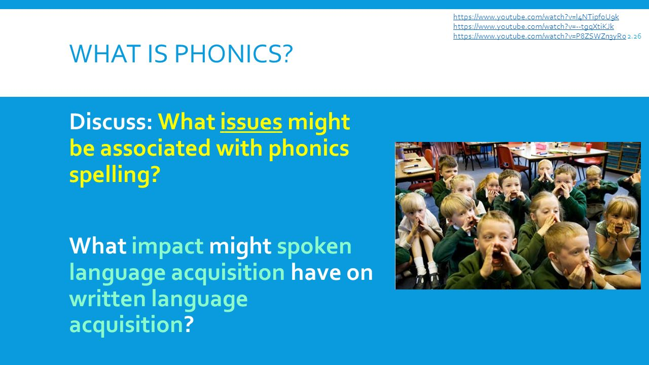 What is phonics. WHAT IS PHONICS. Discuss: What issues might be associated with phonics spelling.