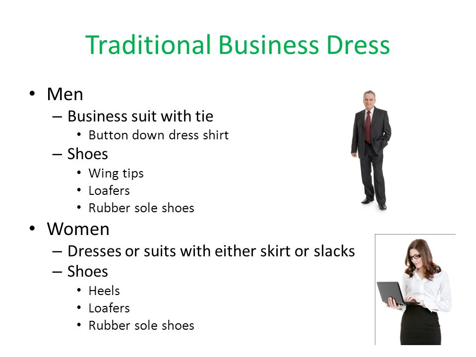 Dress Code Dress For Success Traditional Business Dress Men