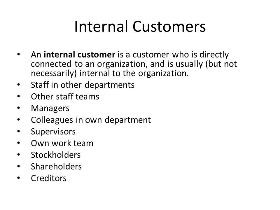 internal and external customers powerpoint