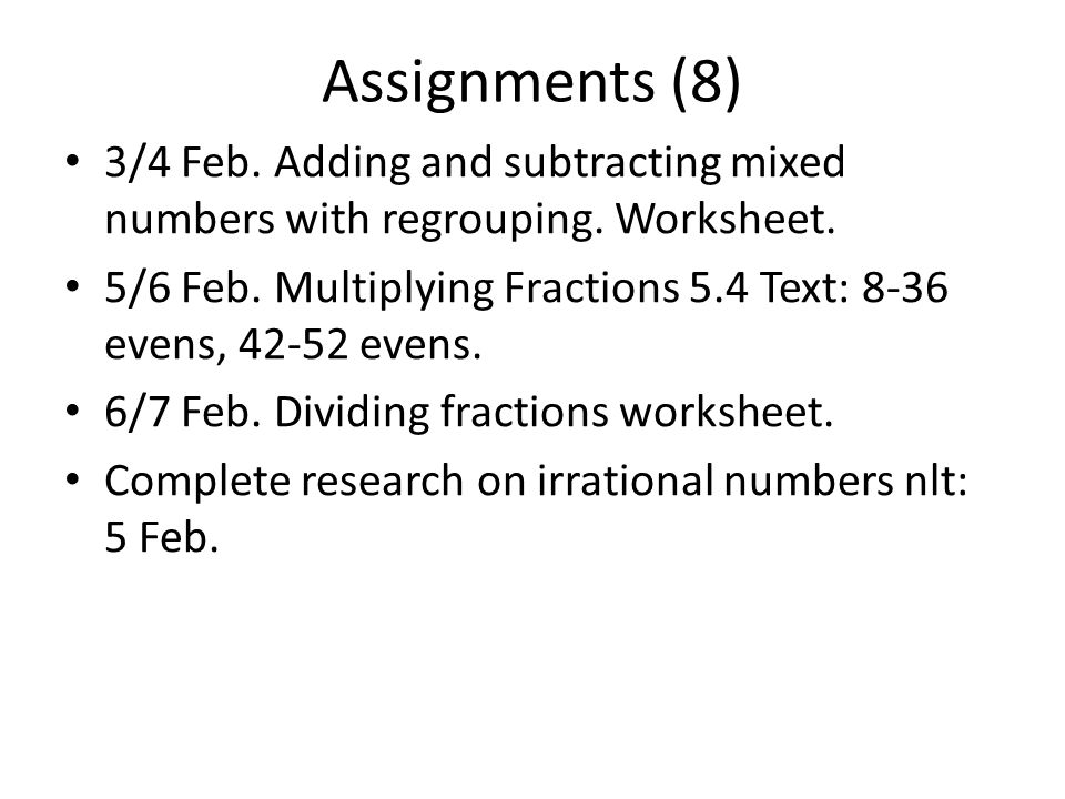 Week 21 Which month has 28 days? All of them.. Assignments (8) 3/4 ...