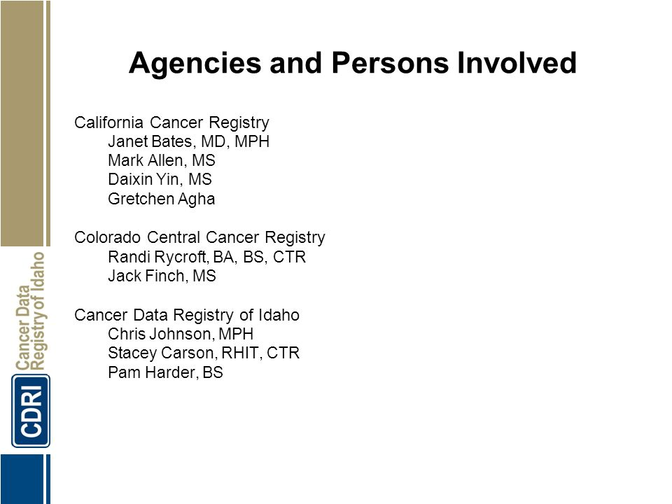 1 Accuracy Of Cancer Mortality Measured By Death Certificates
