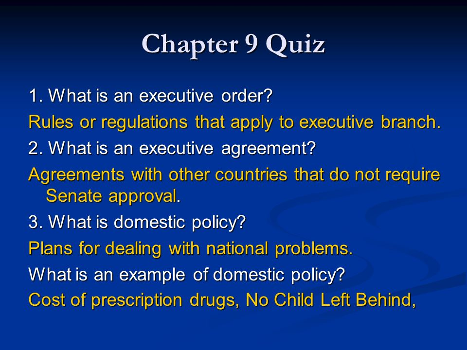 Chapter 9 The Executive Branch Ppt Download
