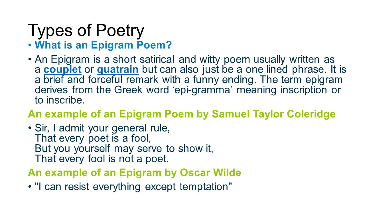 What is an epigram Meaning and Definition 56