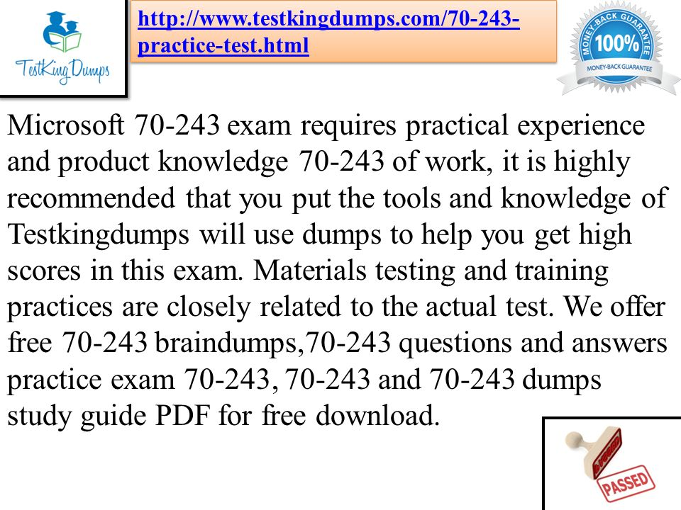 70-243 Study Guide Pdf
