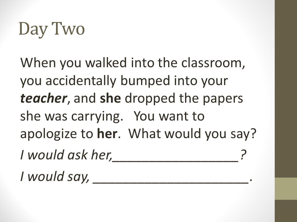 how to apologize to your teacher