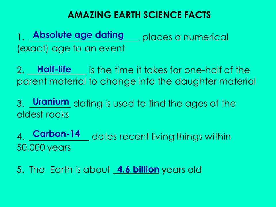 Absolute age dating quiz couples