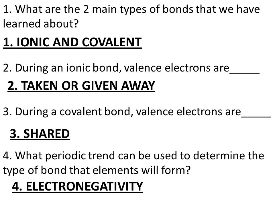 CHAPTER 6 TEST CHEMICAL BONDING REVIEW SHEET 1 What Are