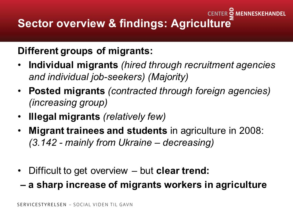 HUMAN TRAFFICKING & FORCED LABOUR IN DENMARK? Researching migration