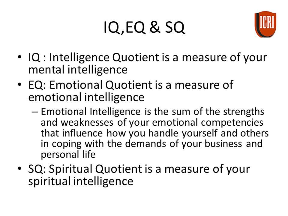 emotional intelligence vs intelligence quotient
