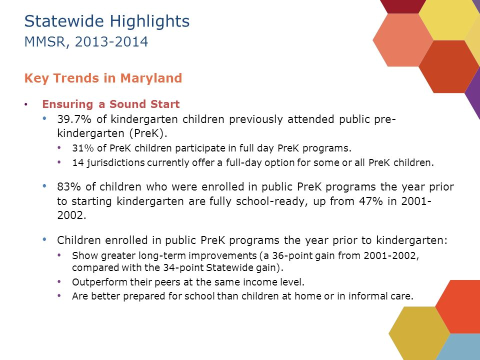 Baltimore County March School Readiness A Childs Ability To