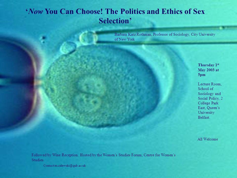 Sex selection new york