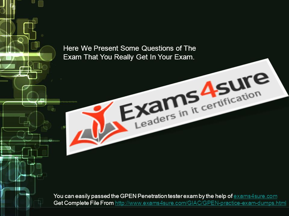 You Can Easily Passed The Gpen Penetration Tester Exam By The Help
