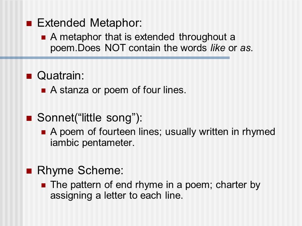Sonnets Poetic Terms Definitions Metaphor A Direct Comparison