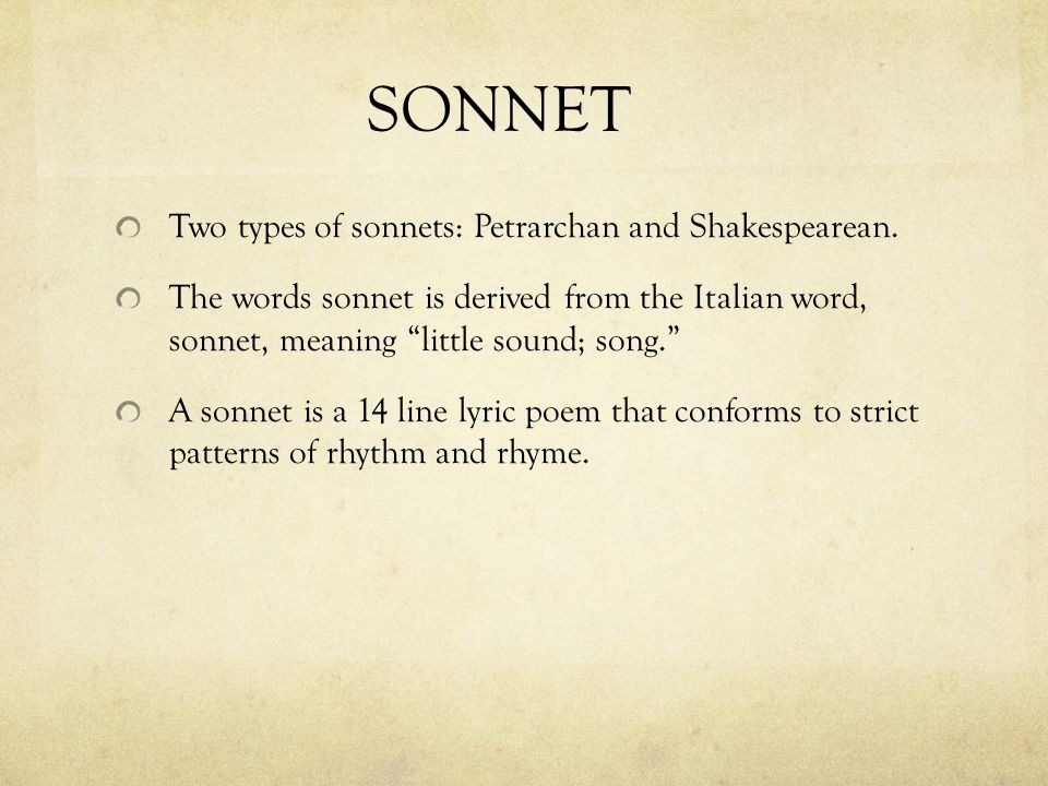 this sonnet is very interesting it So elizabeth barrett browning's choice of form for her poem is very interesting sonnets as love poems had been out of fashion for a time, and she'd written them for her husband-to-be, poet robert browning.