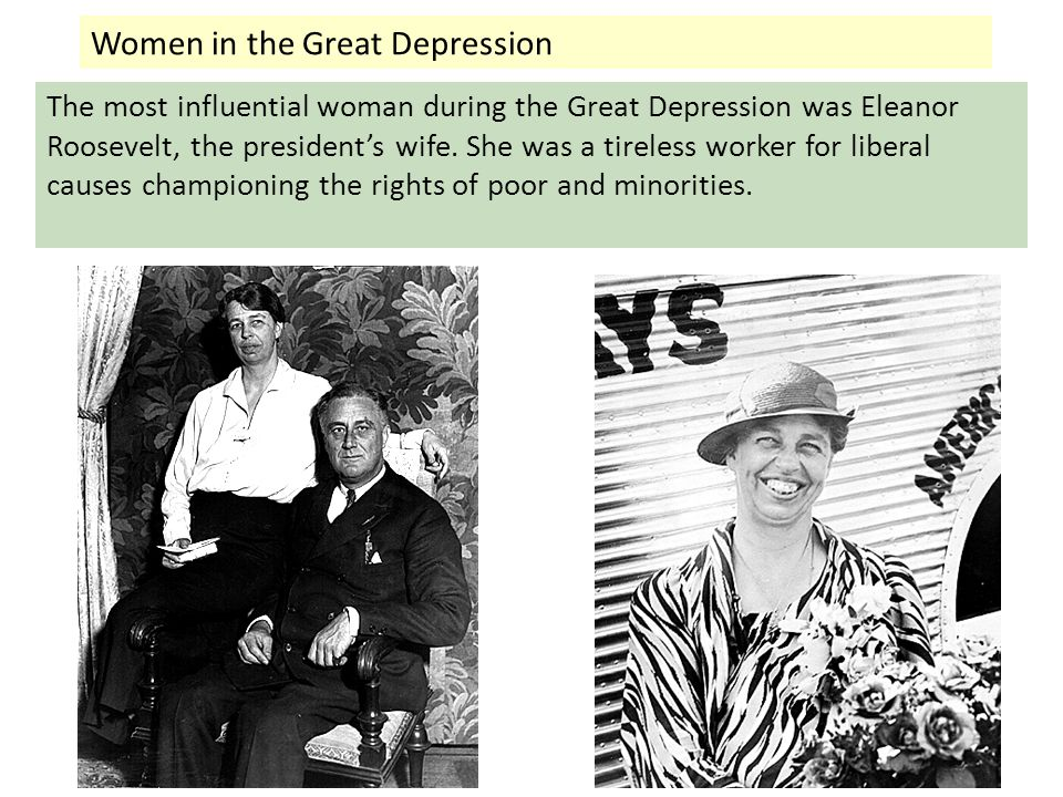 womens rights during the great depression