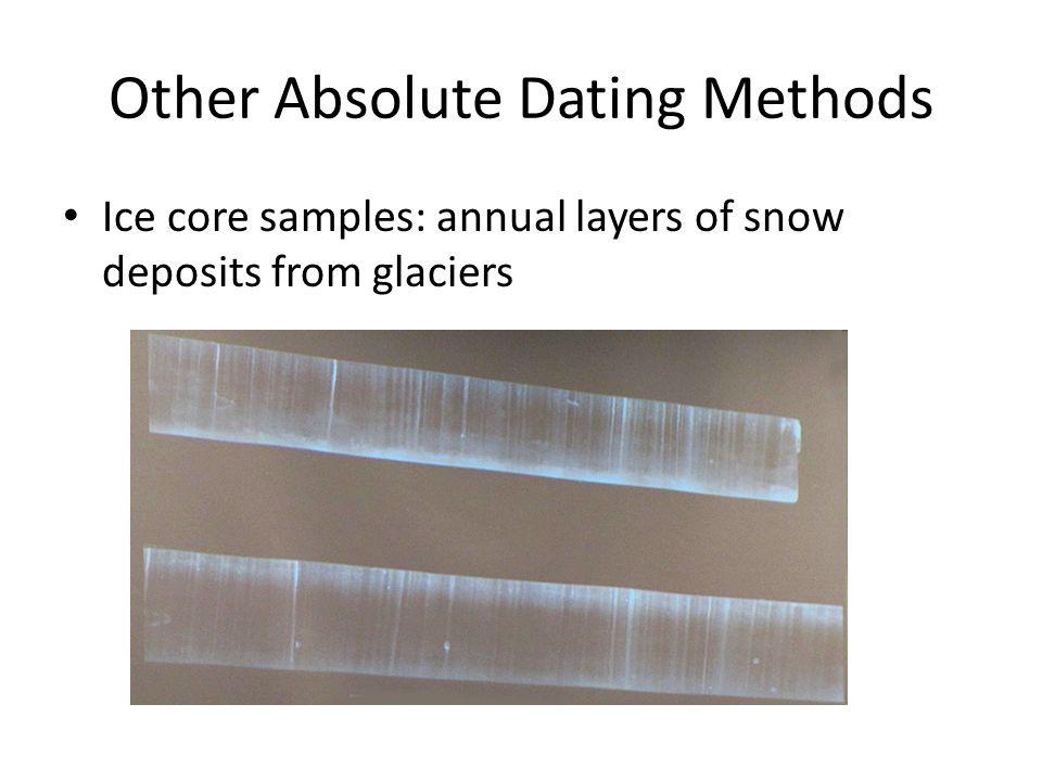 Ice core dating methods in geology