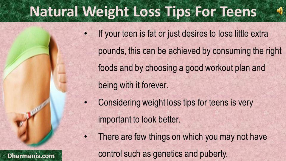 Teen weight loss program.
