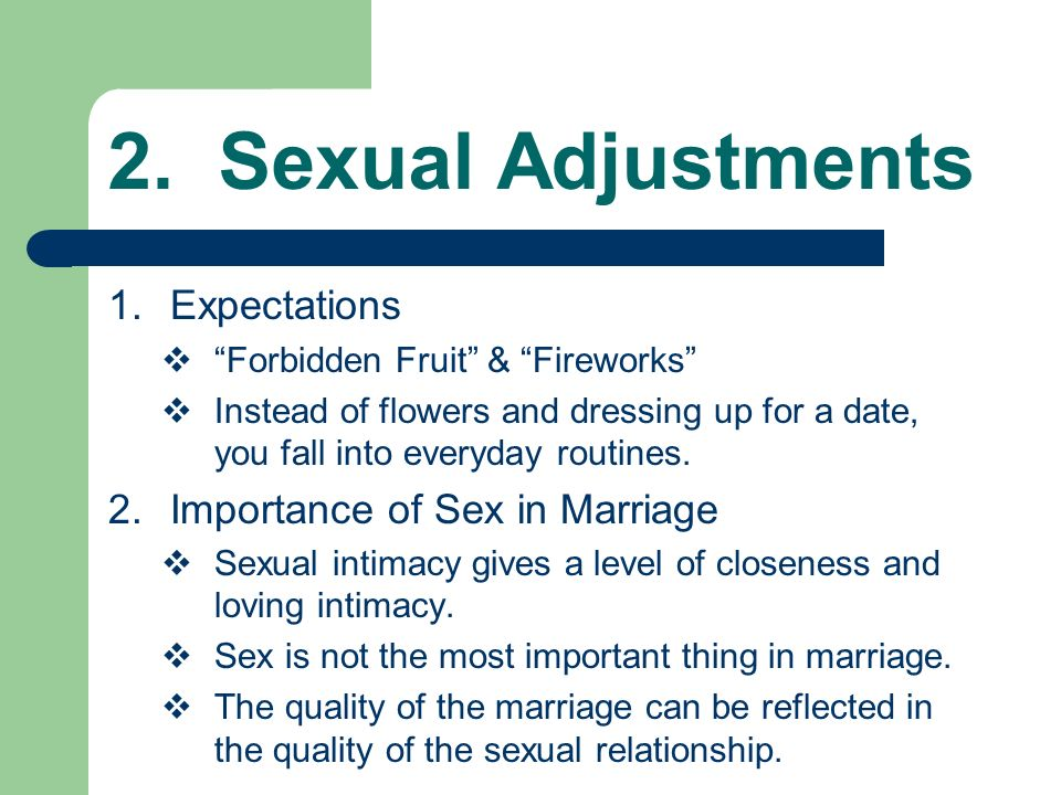how important is sex in a relationship or marriage