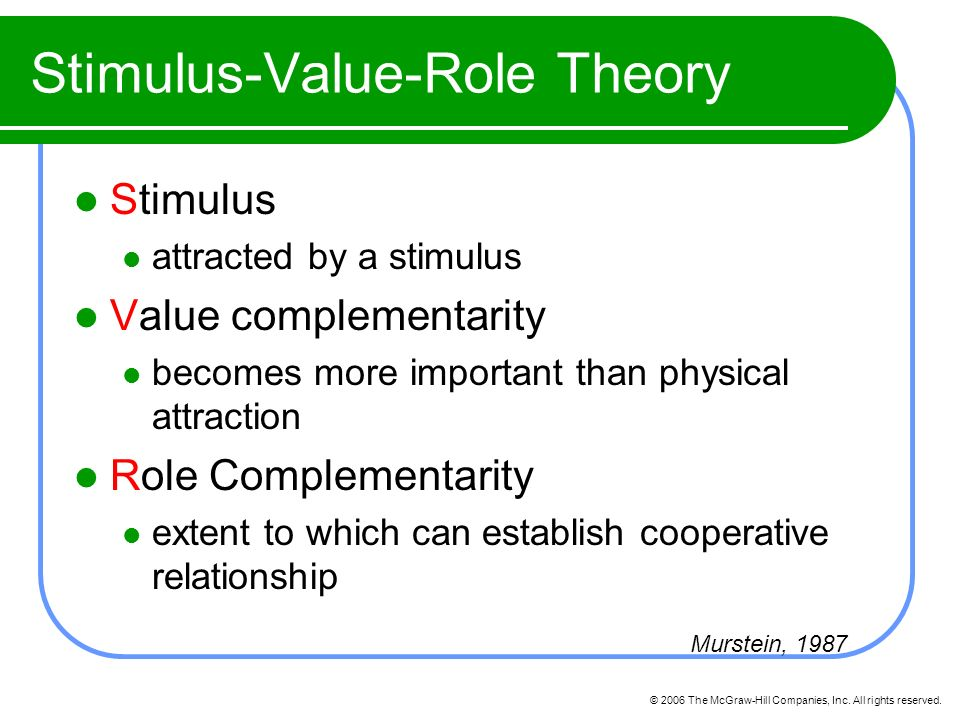 stimulus value role theory