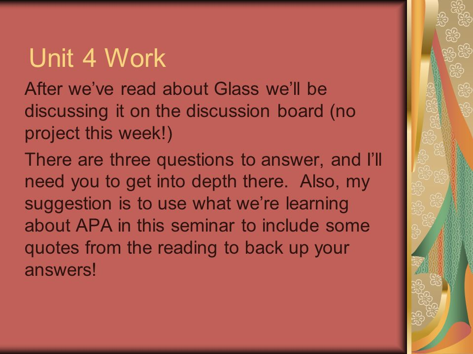 Welcome To Effective Writing 1 Cm 107 Unit 4 Seminar You Should