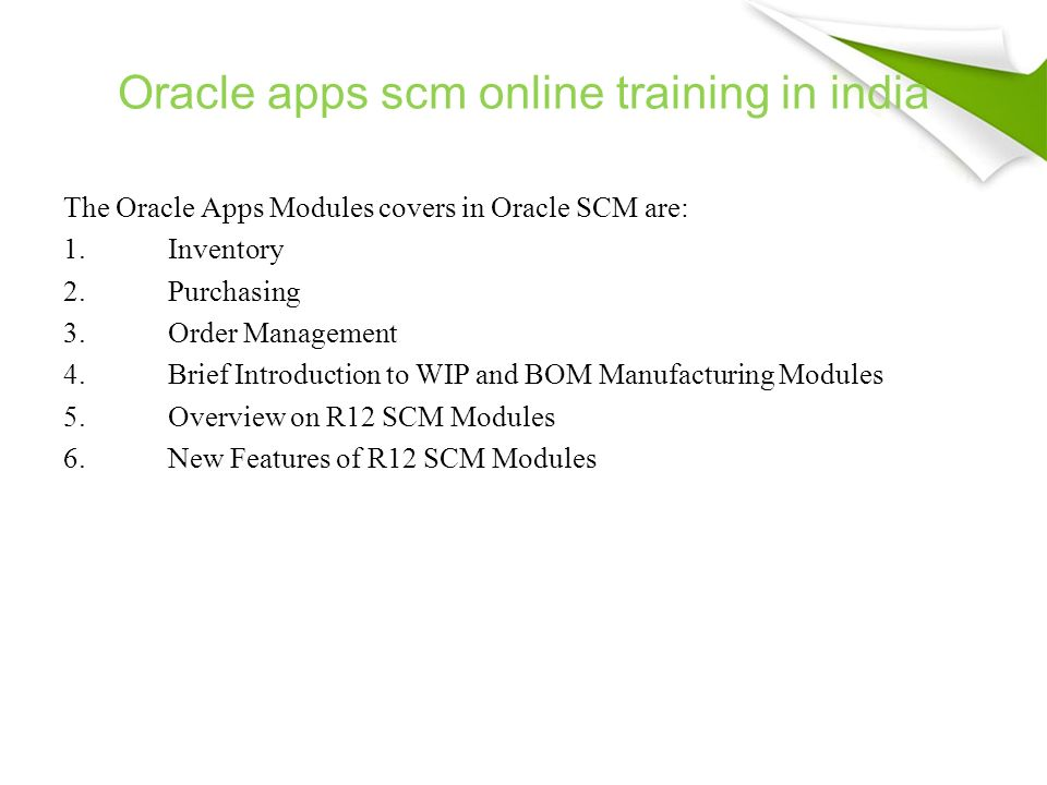 Magnifictraining Oracle Apps Scm Online Training Online