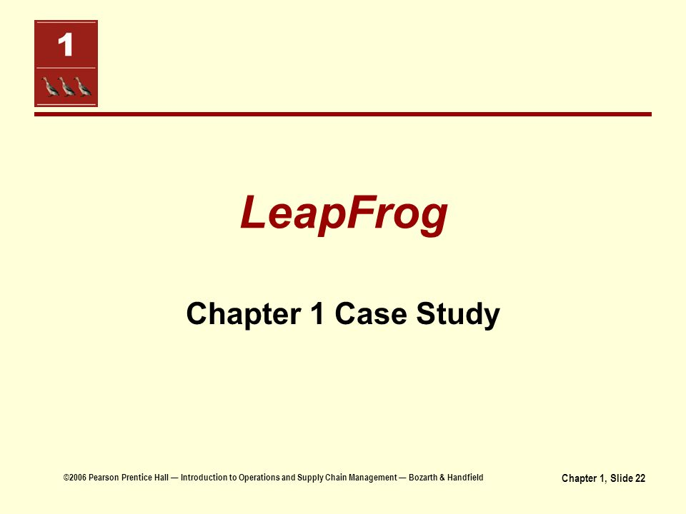 supply chain challenges at leapfrog