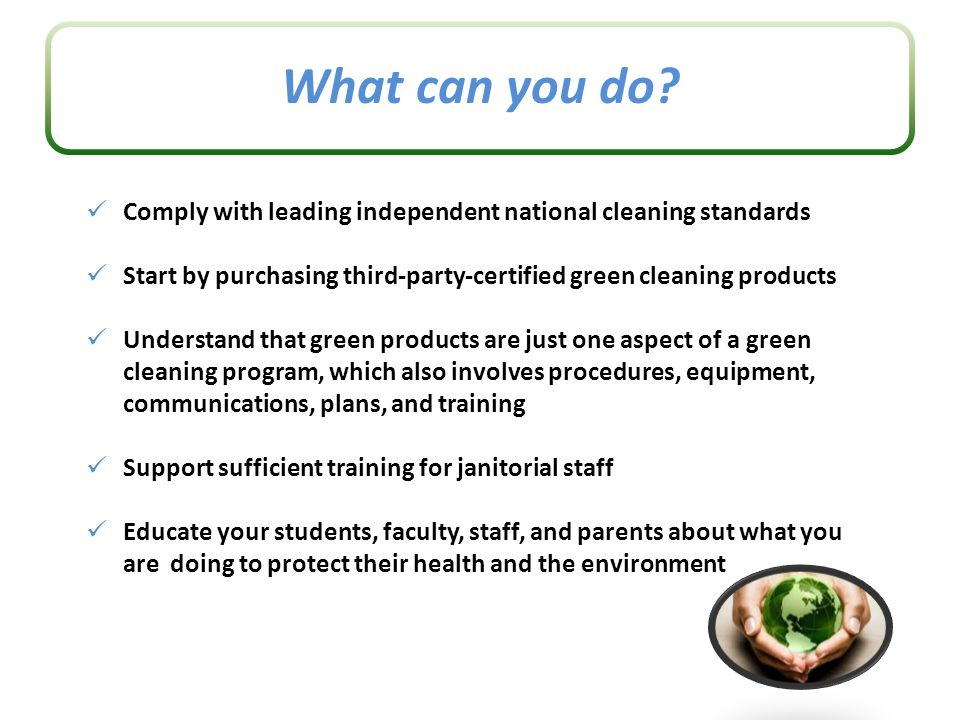 Making Mandates Mainstream Putting Green Cleaning Products And