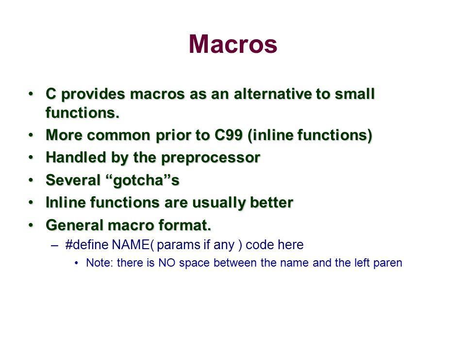 C functions vs macros