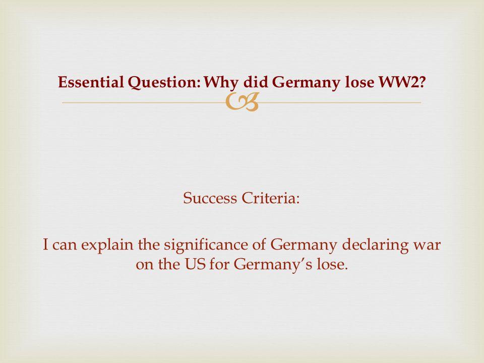 how did germany lose ww2