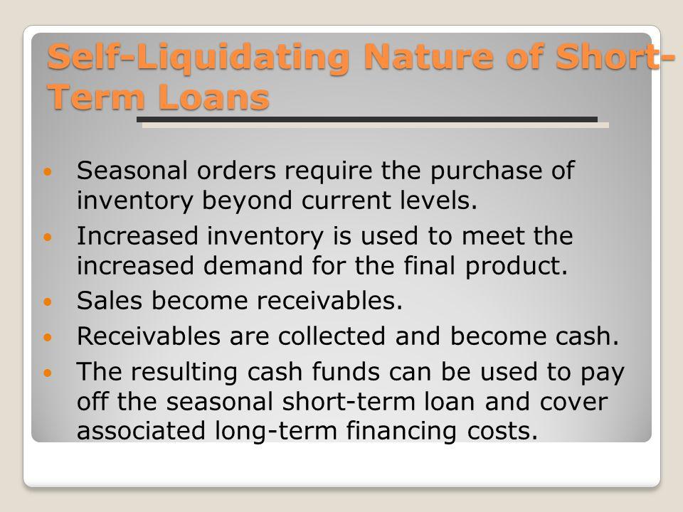 Self liquidating fund