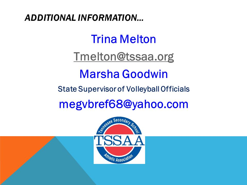Tssaa state volleyball rules meeting for more info contact nfhs 2 additional information fandeluxe Image collections
