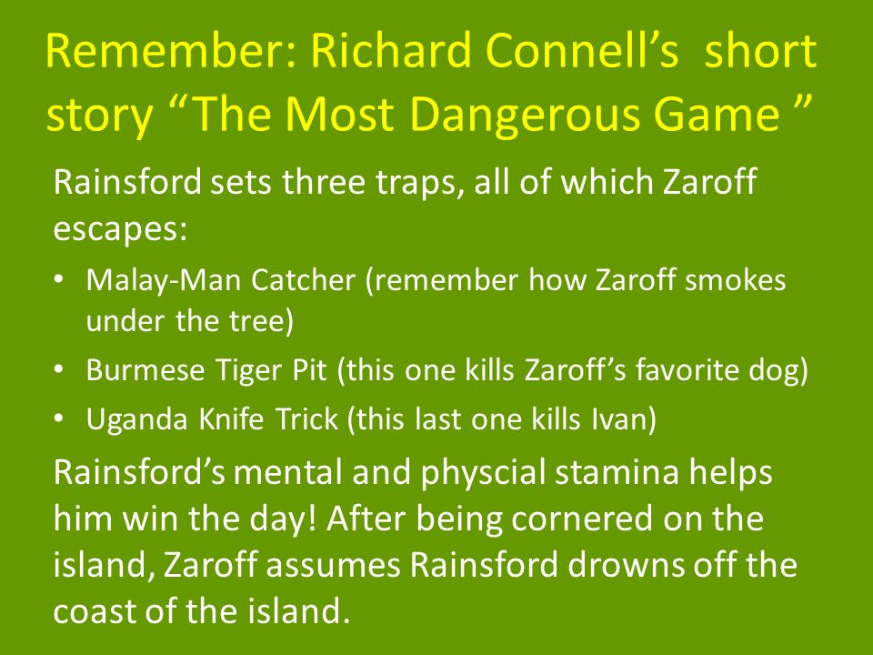 the most dangerous game ivan