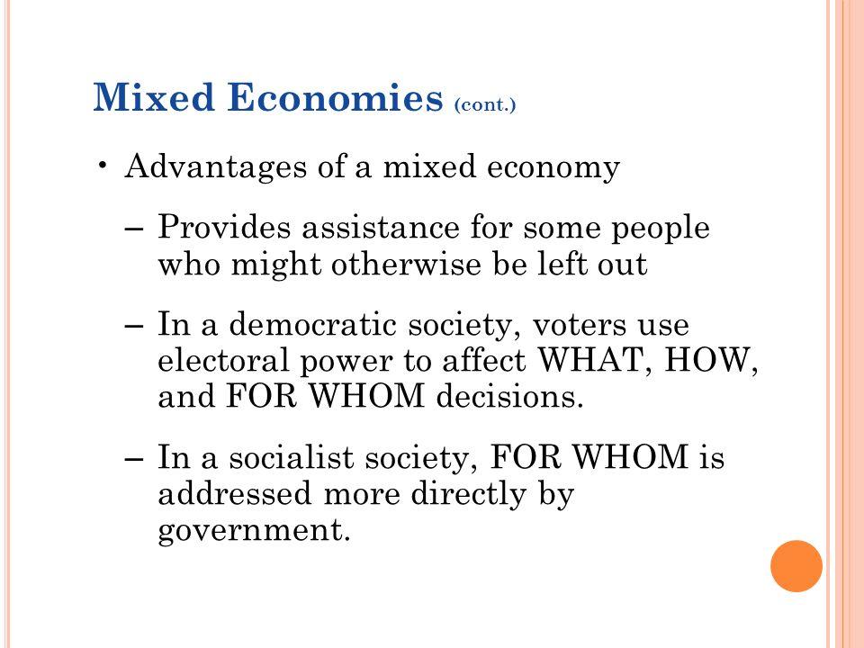 benefits of mixed economy