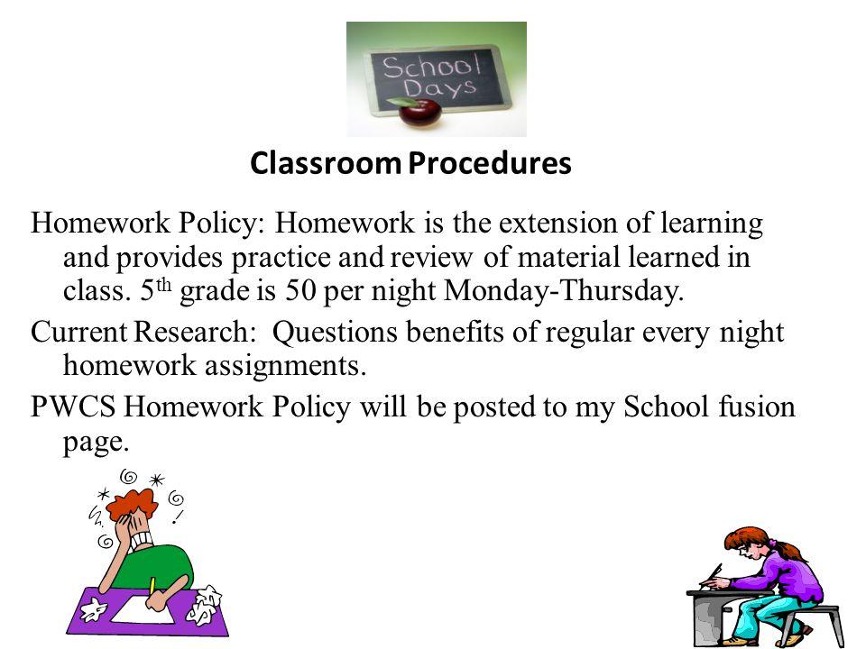 pwcs homework policy