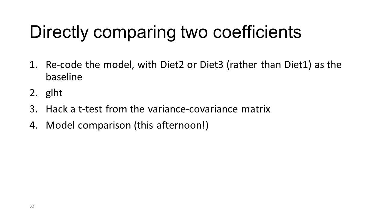 Glht Pairwise Comparison