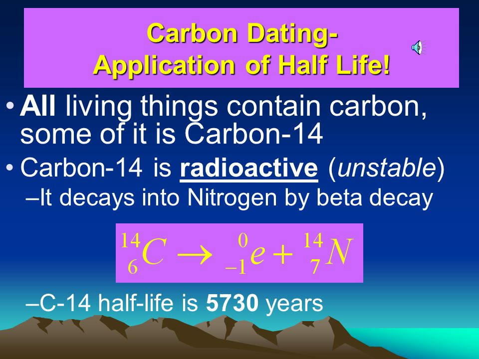 real life applications of carbon dating
