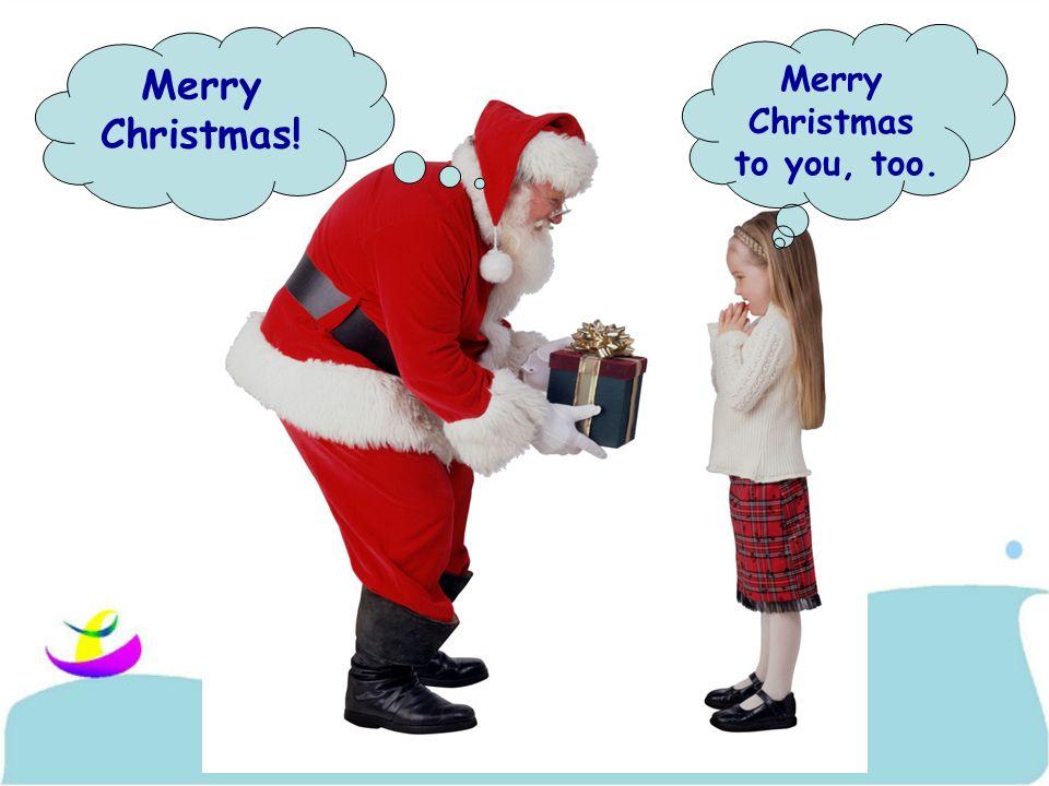 Merry Christmas To You Too
