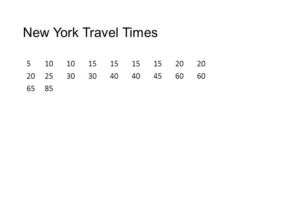 New York Travel Times