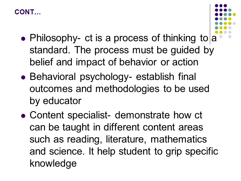 philosophy critical thinking about foundational beliefs Research in critical thinking critical  on well-thought through foundational  most important by-products of the history of critical thinking.