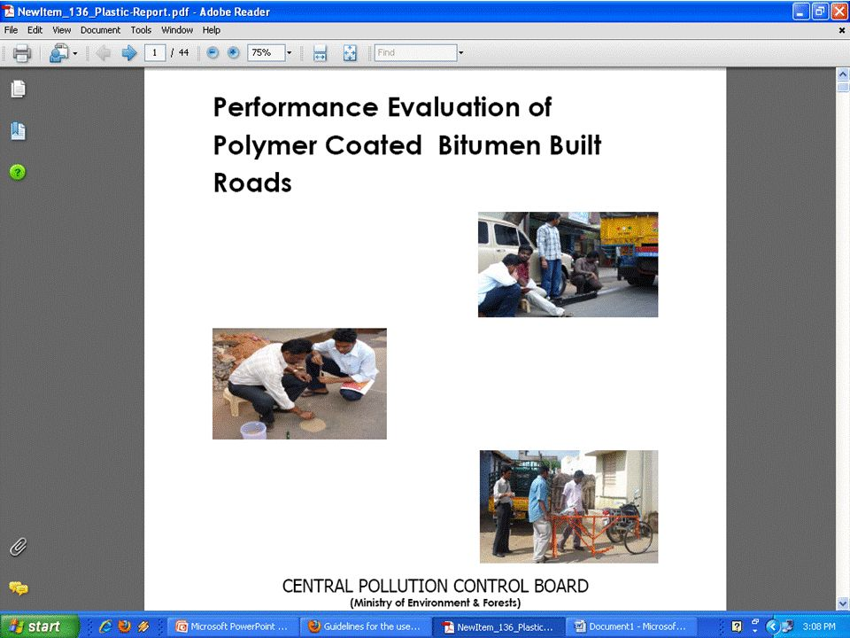 Use of plastic waste in construction of Flexible Pavement - ppt