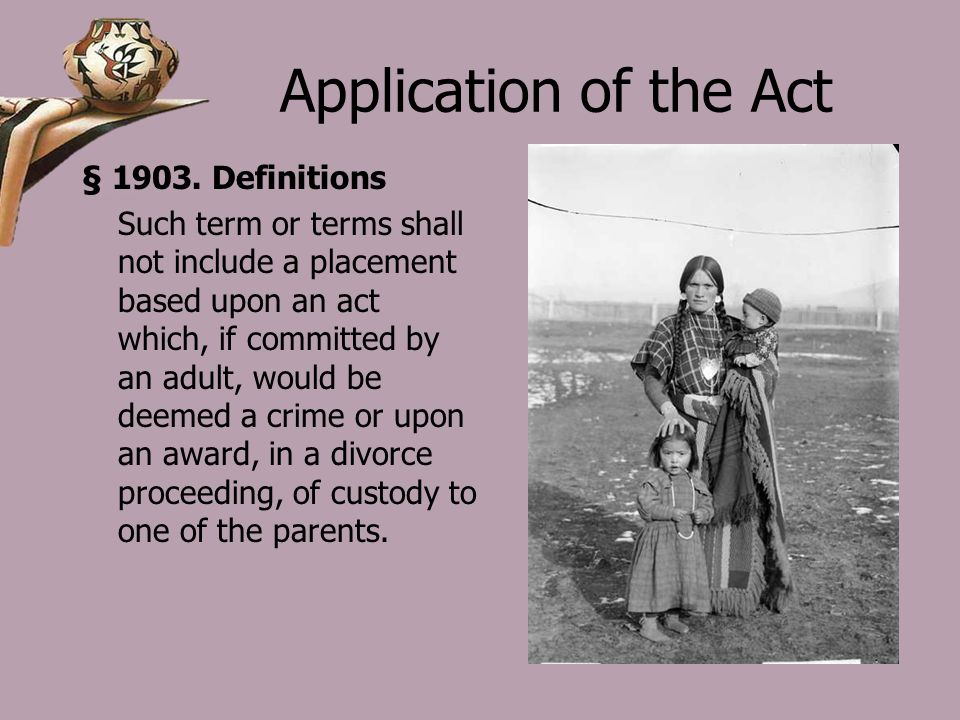 Application of the Act § 1903.