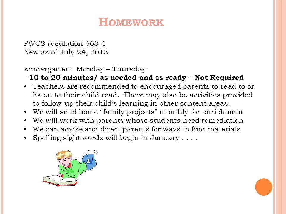 pwcs homework regulation