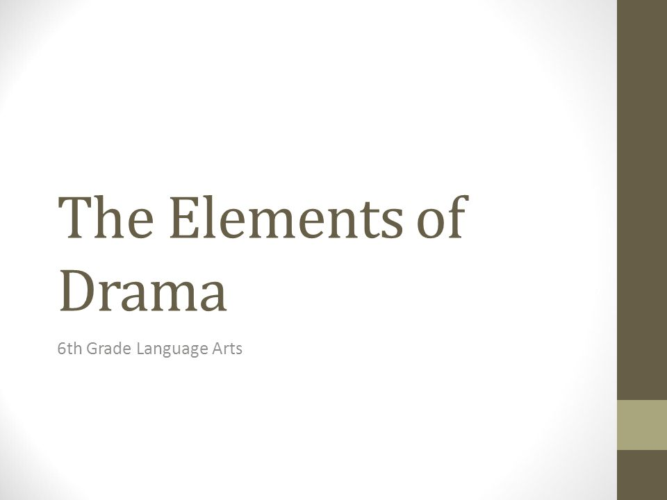 The Elements of Drama 6th Grade Language Arts  Essential