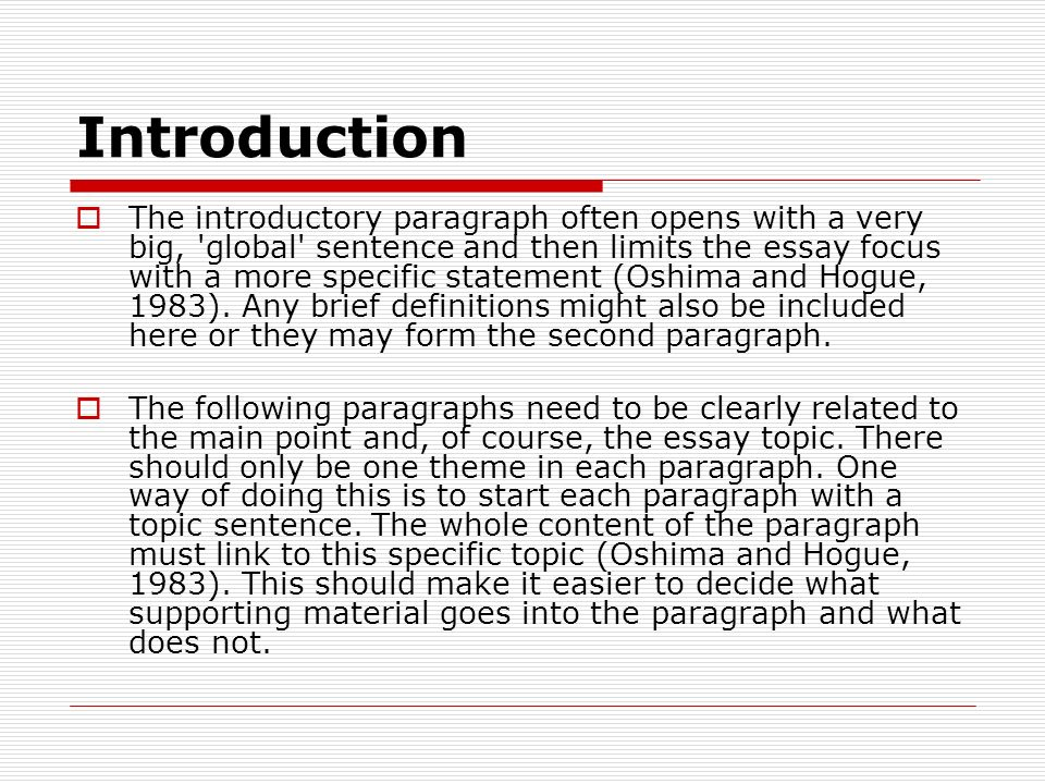 well written essay introduction Free essay examples, essay formats, writing tools and writing tips the goal of an introduction is to capture your reader's interest and explain what the essay is about the introduction will also contain a thesis statement.