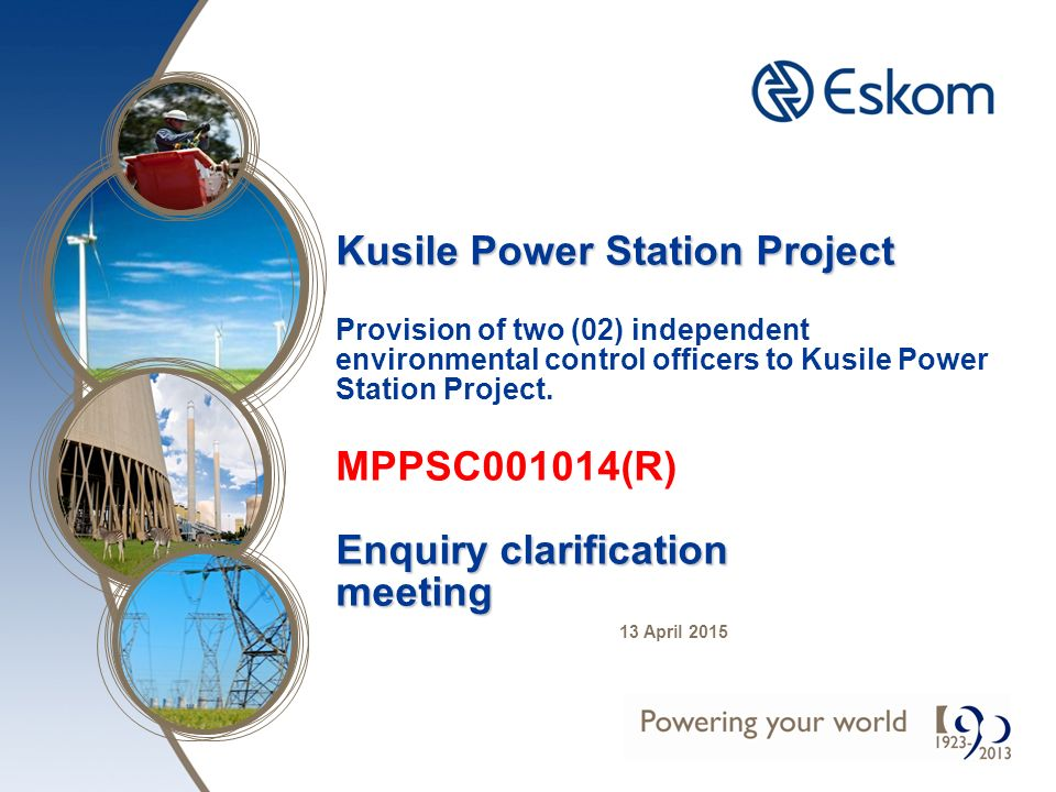 Kusile Power Station Project Enquiry clarification meeting Kusile