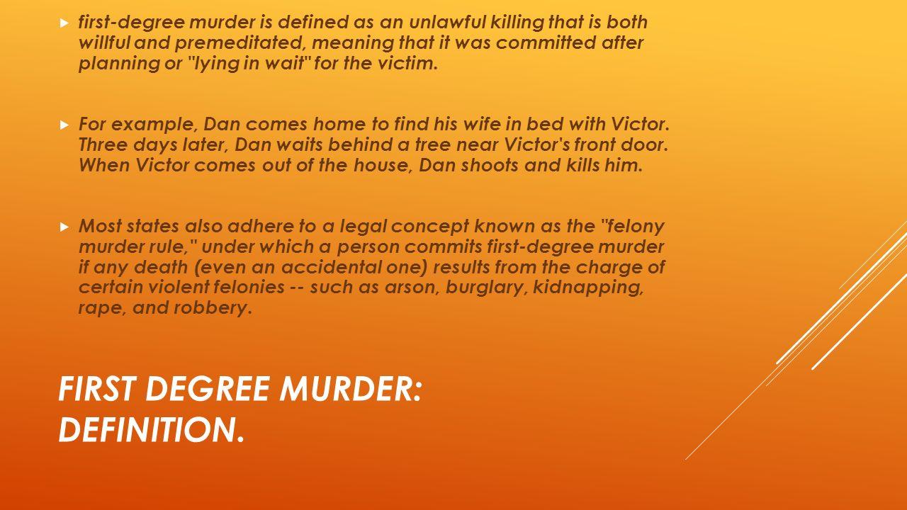 Third degree murder: definition & law video & lesson transcript.